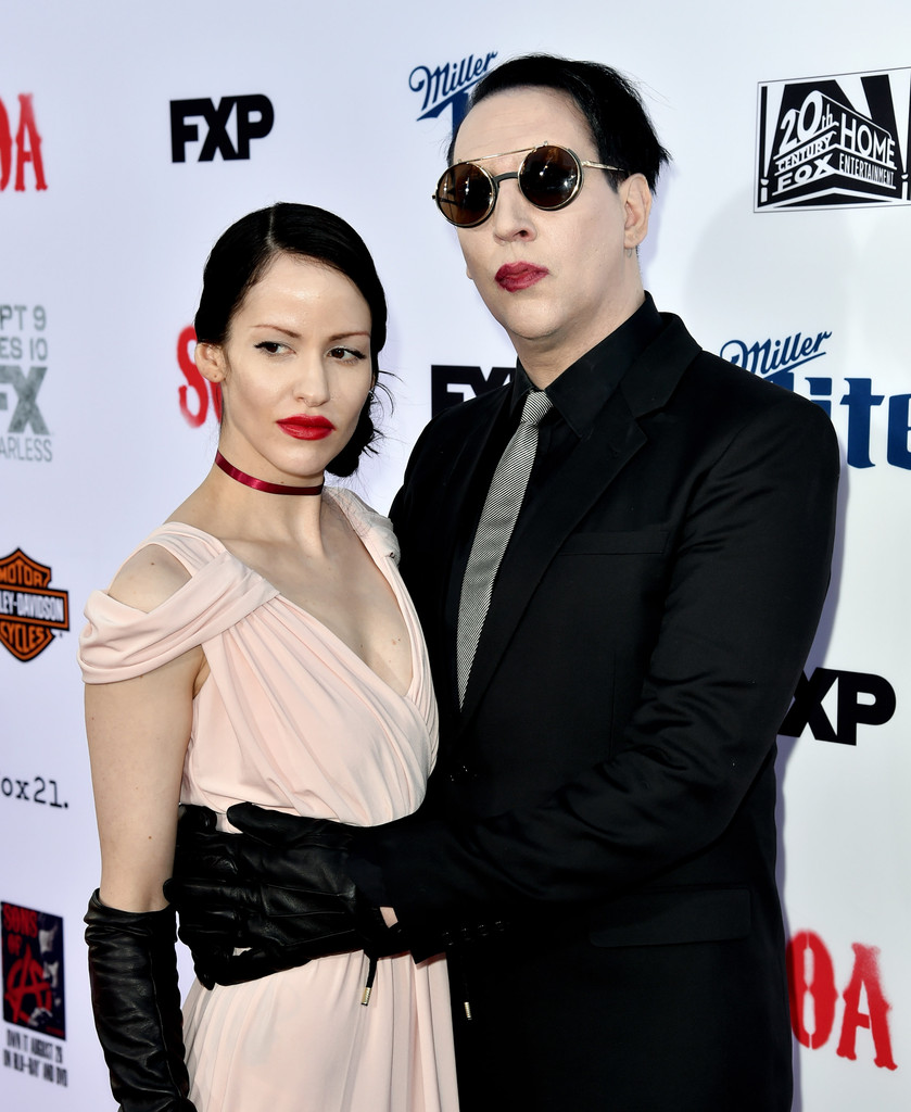 Marilyn Manson with Girlfriend Lindsay Usich