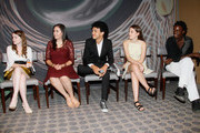 (L-R)   YoungArts Winners Nadia Alexander, Analisa Gutierrez, Justice Smith, Juliana Sass and Nile Harris attend the Premiere Screening Of The HBO Special Alan Alda: YoungArts MasterClass With Discussion By Alda And YoungArts Alumni on September 5, 2014 in New York City.