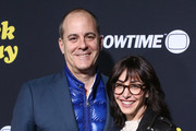 """David Nevins (L) and Andrea Blaugrund Nevins attends the premiere of Showtime's """"Black Monday"""" at The Theatre at Ace Hotel on January 14, 2019 in Los Angeles, California."""
