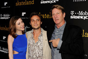 """(L-R) Actors Haley Ramm, Shiloh Fernandez and Brett Cullen arrive at the premiere of """"Skateland"""" at the Arclight Theater on May 11, 2011 in Los Angeles, California."""