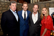 """(L-R) Tom Bernard, Co-president, Sony Pictures Classic, actor Tom Hiddleston, writer/director Marc Abraham and actress Elizabeth Olsen pose at the after party for the premiere of Sony Pictures Classic's """"I Saw The Light"""" at Sadie's Kitchen on March 22, 2016 in Los Angeles, California."""
