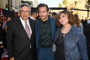 "(L-R) Chairman and CEO, Sony Pictures Entertainment, Tony Vinciquerra, Jake Gyllenhaal, and Amy Pascal attend the premiere of Sony Pictures' ""Spider-Man Far From Home"" at TCL Chinese Theatre on June 26, 2019 in Hollywood, California."