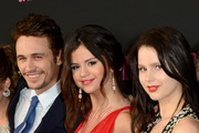 """Actors James Franco, Selena Gomez and Rachel Korine attend the """"Spring Breakers"""" premiere at ArcLight Cinemas on March 14, 2013 in Hollywood, California."""
