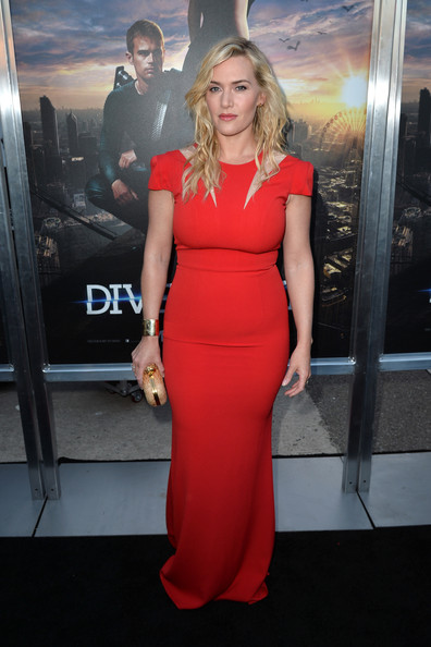 "L'actrice Kate Winslet arrive à la première de de Summit Entertainment ""Divergent"" au Théâtre Regency Bruin le 18 Mars 2014 à Los Angeles, en Californie."