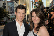 "Actor Eric Mabius and Ivy Sherman arrive at the premiere of Summit Entertainment's ""Source Code"" at ArcLight Cinemas on March 28, 2011 in Los Angeles, California."