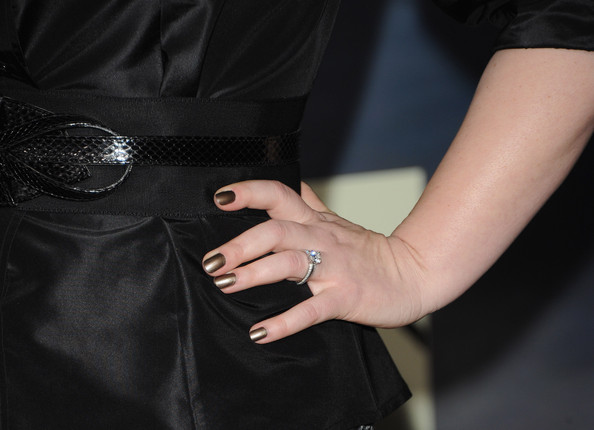 """Author Stephenie Meyer (ring detail) arrives at the premiere of Summit Entertainment's """"The Twilight Saga: Breaking Dawn - Part 2"""" at Nokia Theatre L.A. Live on November 12, 2012 in Los Angeles, California."""