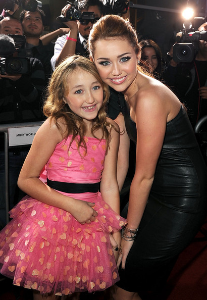 "Noah Cyrus Noah Cyrus (L) and actress/singer Miley Cyrus arrive at the premiere of Touchstone Picture's ""The Last Song"" held at ArcLight Hollywood on March 25, 2010 in Los Angeles, California."