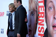 "Actors Owen Wilson and Vince Vaughn arrives at the Premiere Of Twentieth Century Fox's ""The Internship"" on May 29, 2013 in Westwood, California."