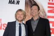 "Actors Owen Wilson (L) and Vince Vaughn arrive at the premiere of Twentieth Century Fox's ""The Internship"" at Regency Village Theatre on May 29, 2013 in Westwood, California."