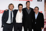 "(L-R) Actor Owen Wilson, director Shawn Levy, actor/writer Vince Vaughn and Chairman & Chief Executive Officer of Fox Filmed Entertainment Jim Gianopulos arrive at the premiere of Twentieth Century Fox's ""The Internship"" at Regency Village Theatre on May 29, 2013 in Westwood, California."