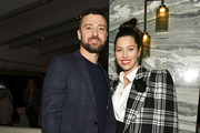 "(L-R) Justin Timberlake and Jessica Biel pose for portrait at the Premiere of USA Network's ""The Sinner"" Season 3 on February 03, 2020 in West Hollywood, California."
