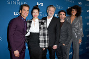 "(L-R) Matt Bomer, Jessica Biel, Bill Pullman, Chris Messina, and Parisa Fitz-Henley attend the Premiere of USA Network's ""The Sinner"" Season 3at The London West Hollywood on February 03, 2020 in West Hollywood, California."