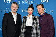 "(L-R) Bill Pullman, Jessica Biel, and Matt Bomer attend the Premiere of USA Network's ""The Sinner"" Season 3at The London West Hollywood on February 03, 2020 in West Hollywood, California."