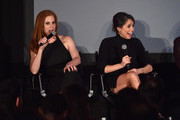 "Actors Sarah Rafferty and Meghan Markle attend a Q&A following the premiere of USA Network's ""Suits"" Season 5 at Sheraton Los Angeles Downtown Hotel on January 21, 2016 in Los Angeles, California."
