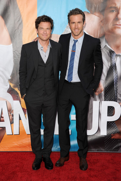 "Actors Jason Bateman (L) and Ryan Reynolds arrive at the premiere of Universal Pictures' ""The Change-Up"" held at the Regency Village Theatre on August 1, 2011 in Los Angeles, California."