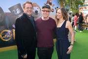 "(L-R) Robert Downey Jr., Danny Elfman, and Susan Downey attend the Premiere of Universal Pictures' ""Dolittle"" at Regency Village Theatre on January 11, 2020 in Westwood, California."