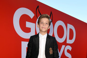 """Jacob Tremblay at the premiere of Universal Pictures' """"Good Boys"""" at the Regency Village Theatre on August 14, 2019 in Westwood, California."""