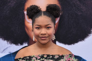 "Laya DeLeon Hayes attends The Premiere Of Universal Pictures ""Little""  at Regency Village Theatre on April 08, 2019 in Westwood, California."