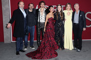 "Philippa Boyens, Hugo Weaving, Christian Rivers, Robert Sheehan, Jihae, Hera Hilmar, Leila George and Stephen Lang attend the premiere of Universal Pictures' ""Mortal Engines"" at the Regency Village Theatre on December 05, 2018 in Westwood, California."