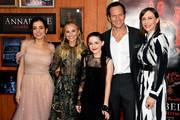 "(L-R) Katie Sarife, Madison Iseman, McKenna Grace, Patrick Wilson and Vera Farmiga arrive at the premiere of Warner Bros. Pictures and New Line Cinema's ""Annabelle Comes Home"" at Regency Village Theatre on June 20, 2019 in Westwood, California."