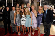 "(L-R, front row) Actors Isreal Broussard, Kevin Weisman, Ashley Taylor, Madeline Carroll, Stefanie Scott, Penelope Ann Miller, Rebecca De Mornay, John Mahoney, (rear, L-R) Shane Harper, Cody Horn and director Rob Reiner pose at the premiere of Warner Bros. ""Flipped"" at the Cinerama Dome Theater on July 26, 2010 in Los Angeles, California."