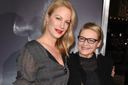 """Alison Eastwood (L) and Dianne Wiest arrive at the premiere of Warner Bros. Pictures' """"The Mule"""" at the Village Theatre on December 10, 2018 in Los Angeles, California."""
