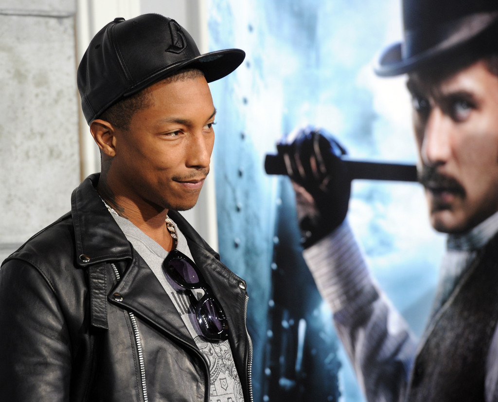 Pharrell Williams in Premiere Of Warner Bros. Pictures ...