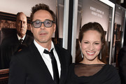Executive producer/actor Robert Downey Jr. (L) and producer Susan Downey attend the Premiere of Warner Bros. Pictures and Village Roadshow Pictures' 'The Judge' at AMPAS Samuel Goldwyn Theater on October 1, 2014 in Beverly Hills, California.