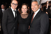 (L-R) Executive producer/actor Robert Downey Jr., producer Susan Downey and Chairman and CEO of Warner Bros. Entertainment Kevin Tsujihara attend the Premiere of Warner Bros. Pictures and Village Roadshow Pictures' 'The Judge' at AMPAS Samuel Goldwyn Theater on October 1, 2014 in Beverly Hills, California.