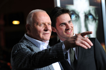 """Anthony Hopkins Colin O'Donoghue Premiere Of Warner Bros. """"The Rite"""" - Red Carpet"""