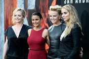 """(L-R) Actresses Marley Shelton, Emmanuelle Chriqui, Malin Akerman and Elizabeth Berkley attend the premiere of Warner Bros. Pictures' """"San Andreas"""" at the TCL Chinese Theatre on May 26, 2015 in Hollywood, California."""