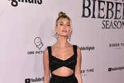 """Hailey Bieber attends the premiere of YouTube Original's """"Justin Bieber: Seasons"""" at the Regency Bruin Theatre on January 27, 2020 in Los Angeles, California."""