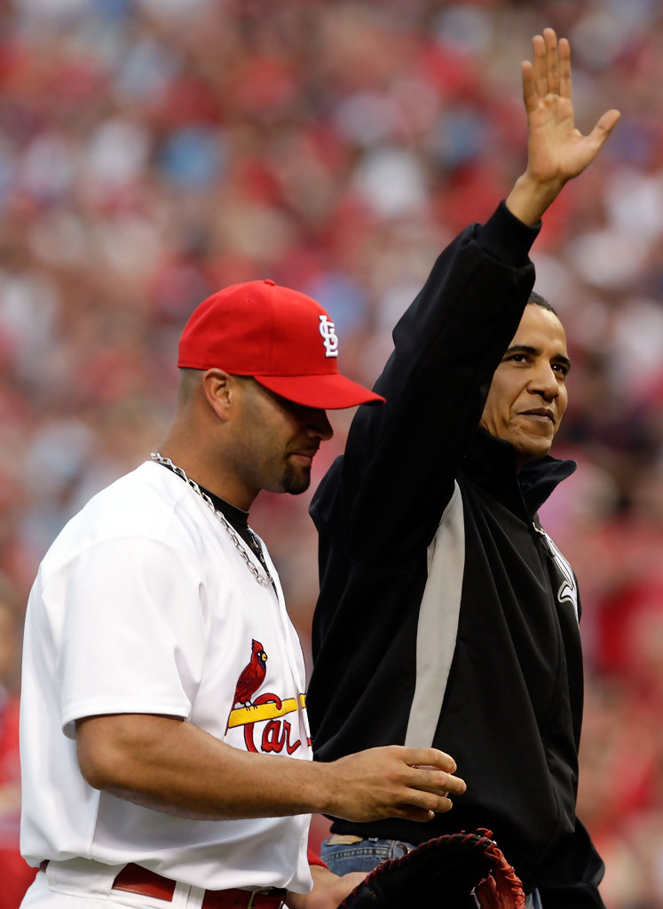 President Barack Obama Throws Out First Pitch - Zimbio