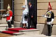 Queen Elizabeth II and US President Barack Obama step out onto the western steps of Buckingham Palace on May 24, 2011 in London, England. The 44th President of the United States, Barack Obama, and his wife Michelle are in the UK for a two day State Visit at the invitation of HM Queen Elizabeth II. During the trip they will attend a state banquet at Buckingham Palace and the President will address both houses of parliament at Westminster Hall.