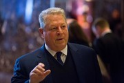 Former Vice President Al Gore talks to the media after meeting with President-elect Donald Trump at Trump Tower on December 5, 2016 in New York City. Trump has been holding daily meetings at the luxury high rise that bears his name since his election in November.