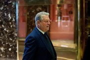 Former Vice President Al Gore arrives at Trump Tower on December 5, 2016 in New York City. President-elect Donald Trump has been holding daily meetings at the luxury high rise that bears his name since his election in November.