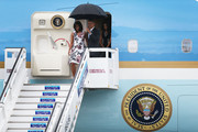 First lady Michelle Obama, President Barack Obama, Malia Obama and Sasha Obama arrive at Jose Marti International Airport for a 48-hour visit on Airforce One March 20, 2016 in Havana, Cuba. Obama is the first President in nearly 90 years to visit Cuba, the last one being Calvin Coolidge.