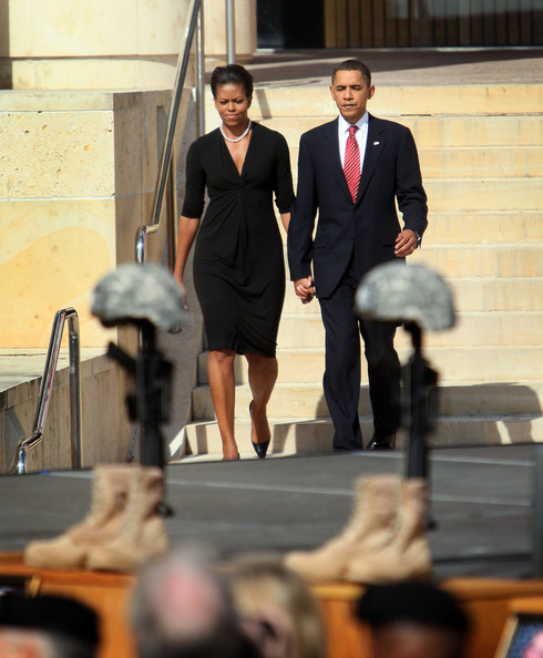Two Victims Of The Illinois Shooting Attended A School: Michelle Obama Attends Memorial Service At Ft. Hood For