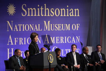 Linda Johnson Rice President Obama Attends Nat'l Museum Of African American History And Culture Groundbreaking Ceremony