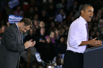 Tom Perriello President Obama Attends Rally For Rep. Tom Perriello