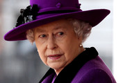 HM Queen Elizabeth II looks on during a ceremonial welcome for South African President Jacob Zumaon Horseguards Parade on March 3, 2010 in London, England. The South African Leader is on a three day State visit to Britain.