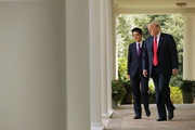 Donald Trump and Shinzo Abe Photos Photo