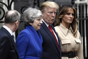 Philip May, British Prime Minister Theresa May, U.S. President Donald Trump and U.S. First Lady Melania Trump pose outside 10 Downing Street on June 4, 2019 in London, England. President Trump's three-day state visit began with lunch with the Queen, followed by a State Banquet at Buckingham Palace, whilst today he will attend business meetings with the Prime Minister and the Duke of York, before travelling to Portsmouth to mark the 75th anniversary of the D-Day landings.