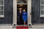 U.S. President Donald Trump and British Prime Minister Theresa May leave 10 Downing Street for the Foreign and Commonwealth Office during the second day of his State Visit on June 4, 2019 in London, England. President Trump's three-day state visit began with lunch with the Queen, followed by a State Banquet at Buckingham Palace, whilst today he will attend business meetings with the Prime Minister and the Duke of York, before travelling to Portsmouth to mark the 75th anniversary of the D-Day landings.