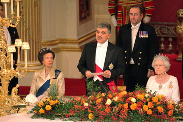 Queen Elizabeth II Princess Anne The President Of Turkey Abdullah Gul's State Visit To The UK