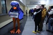 A person wears a 'Bernie Bird' costume as people leave a campaign rally with Democratic presidential candidate Sen. Bernie Sanders (I-VT) at the Roy Wilkins Auditorium March 02, 2020 in St. Paul, Minnesota. h. Sanders is campaigning in Utah and Minnesota the day before Super Tuesday, when 1,357 Democratic delegates in 14 states across the country will be up for grabs.