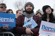 Supporters listen to Democratic presidential candidate Sen. Bernie Sanders (I-VT) during a campaign rally in the Central Mall of the Utah State Fair Park March 02, 2020 in Salt Lake City, Utah. Sanders is campaigning in Utah and Minnesota the day before Super Tuesday, when 1,357 Democratic delegates in 14 states across the country will be up for grabs.