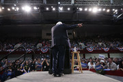 Democratic presidential candidate Sen. Bernie Sanders (I-VT) addresses thousands of supporters during a campaign rally at the Roy Wilkins Auditorium March 02, 2020 in St. Paul, Minnesota. h. Sanders is campaigning in Utah and Minnesota the day before Super Tuesday, when 1,357 Democratic delegates in 14 states across the country will be up for grabs.