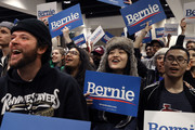Supporters listen to Democratic presidential candidate Sen. Bernie Sanders (I-VT) as he addresses an overflow crowd during a campaign rally at the Roy Wilkins Auditorium March 02, 2020 in St. Paul, Minnesota. h. Sanders is campaigning in Utah and Minnesota the day before Super Tuesday, when 1,357 Democratic delegates in 14 states across the country will be up for grabs.