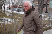 Democratic presidential candidate Sen. Bernie Sanders (I-VT) arrives for a campaign rally in the Central Mall of the Utah State Fair Park March 02, 2020 in Salt Lake City, Utah. Sanders is campaigning in Utah and Minnesota the day before Super Tuesday, when 1,357 Democratic delegates in 14 states across the country will be up for grabs.